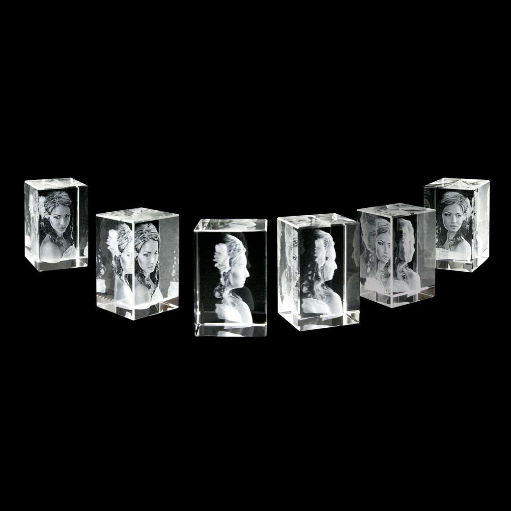individuelle Geschenke 3D Glaswürfel Tennigkeit 3D Foto Fotogeschenke Geschenke Potsdam