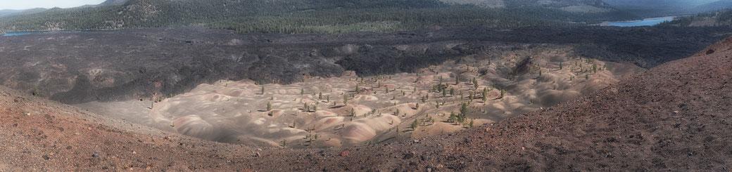 painted dunes, lassen volcanic np, cinder cone