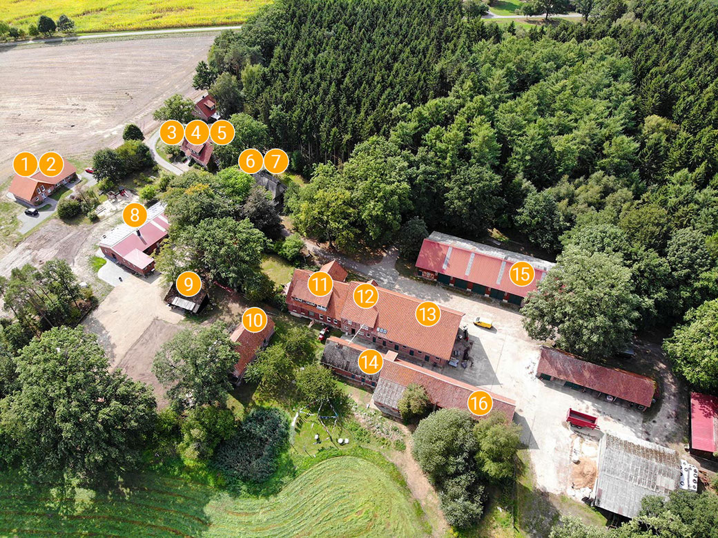 Lageplan vom Imkershof der Familie Röhrs in Schneverdingen-Surbostel