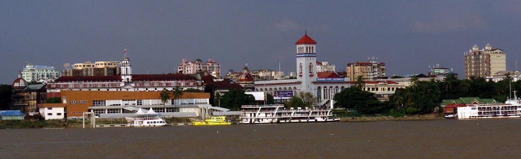 Blick auf Yangon