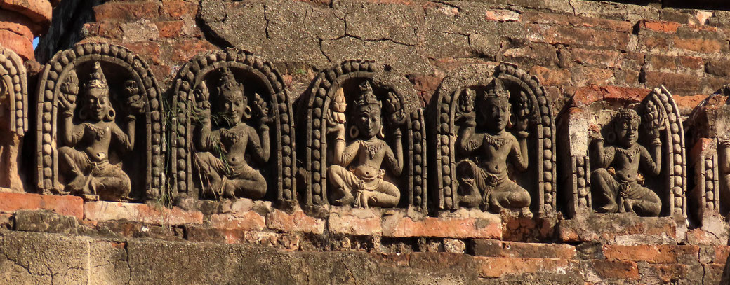 Relief am Abeyadana Tempel