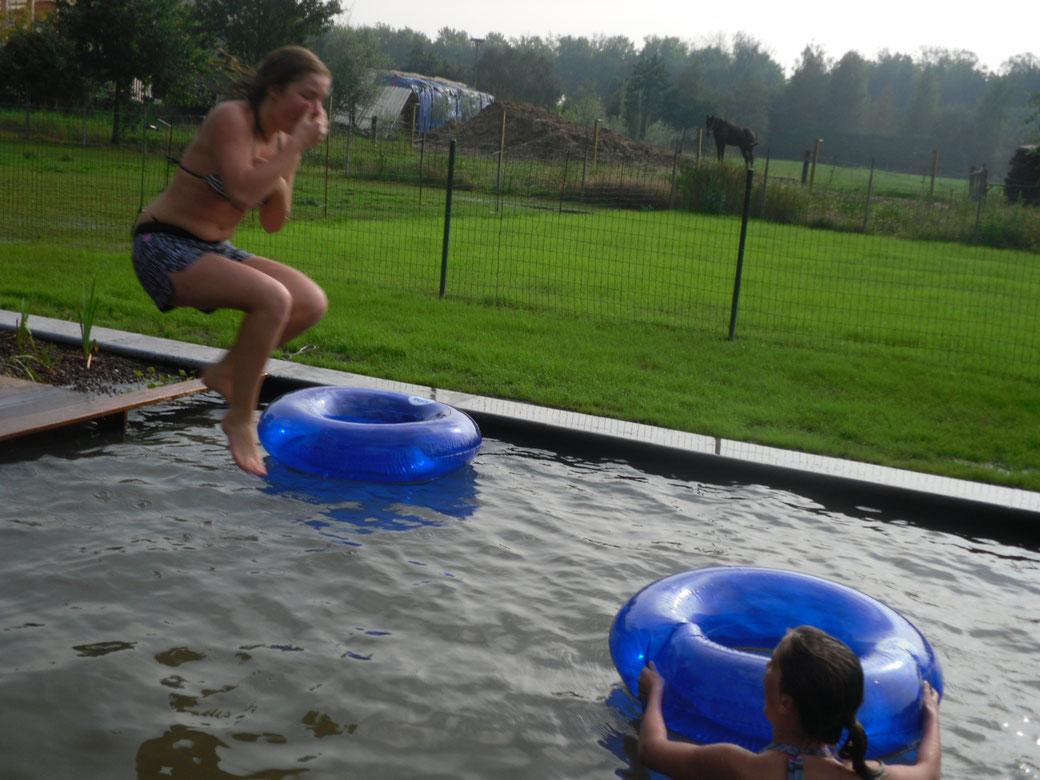 Afgewerkte zwemvijver: puur genot