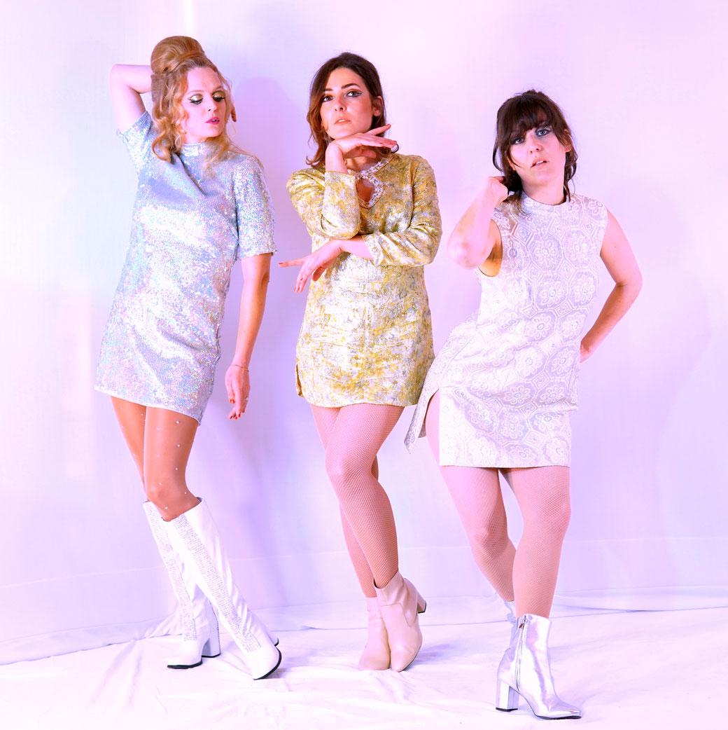 The Wonderettes, Dixie Dynamite's 1960s Retro Entertainment Ensemble aus München, 60s GoGo Dancers, Vintage Shows, Fifties, Sixties, Seventies