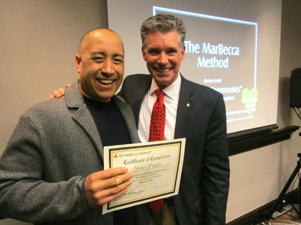 Me with Mark Ferrell, The Marbecca Method Master of Ceremonies Training for DJs, Henderson, Nevada February 2018