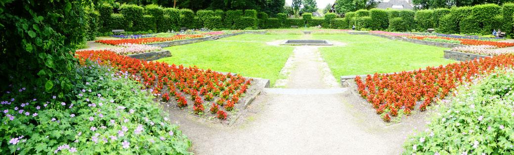 Panorama Heckengarten im Hammer Park