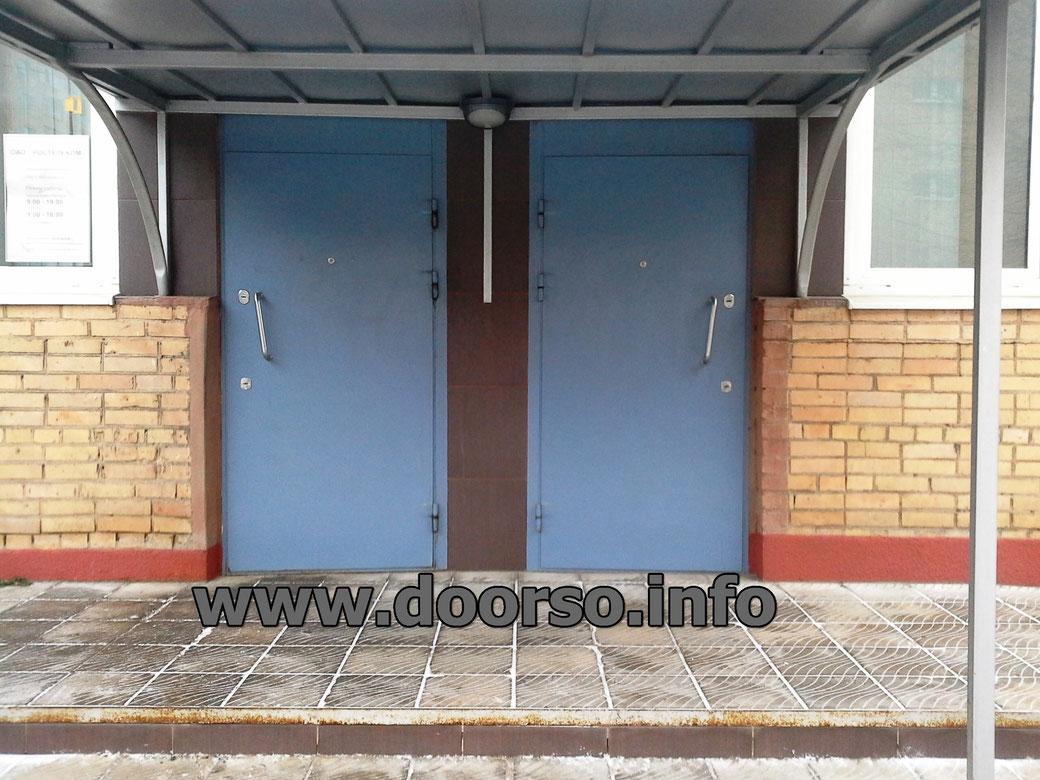 заказ металлической двери для подъезда в москве