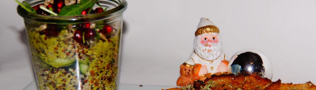 Weihnachten vegan - Vorspeise - Bunter Quinoa-Salat mit Limetten-Dressing - fair4world