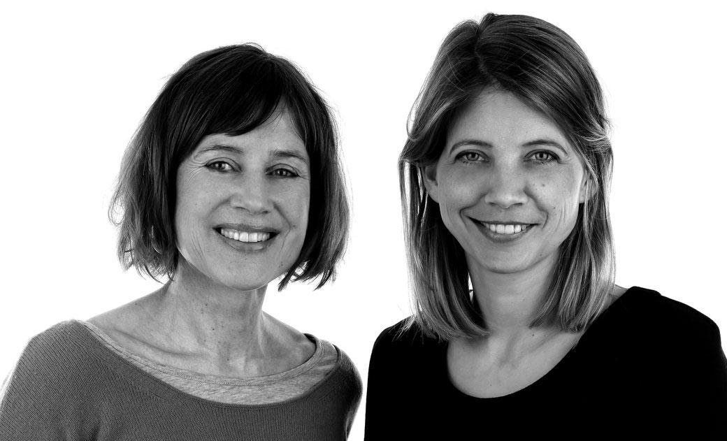Achtsamkeitstrainierin Katharina Schacht und Sabine Bergmann