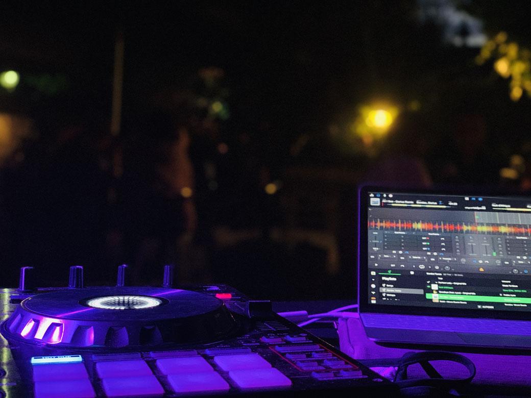 Mein DJ Tisch im Pur Pur in Müllheim