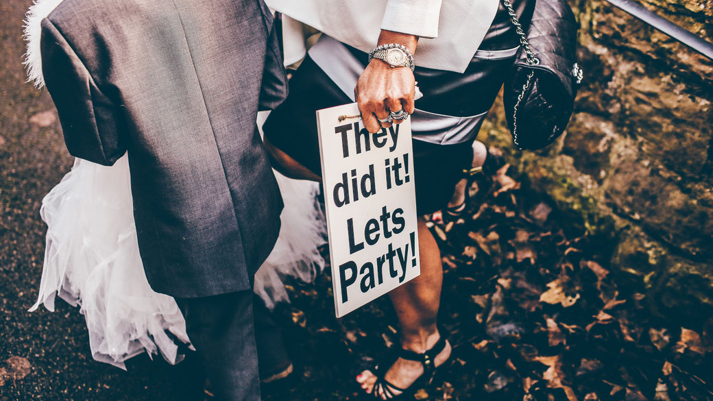 Party auf Hochzeit