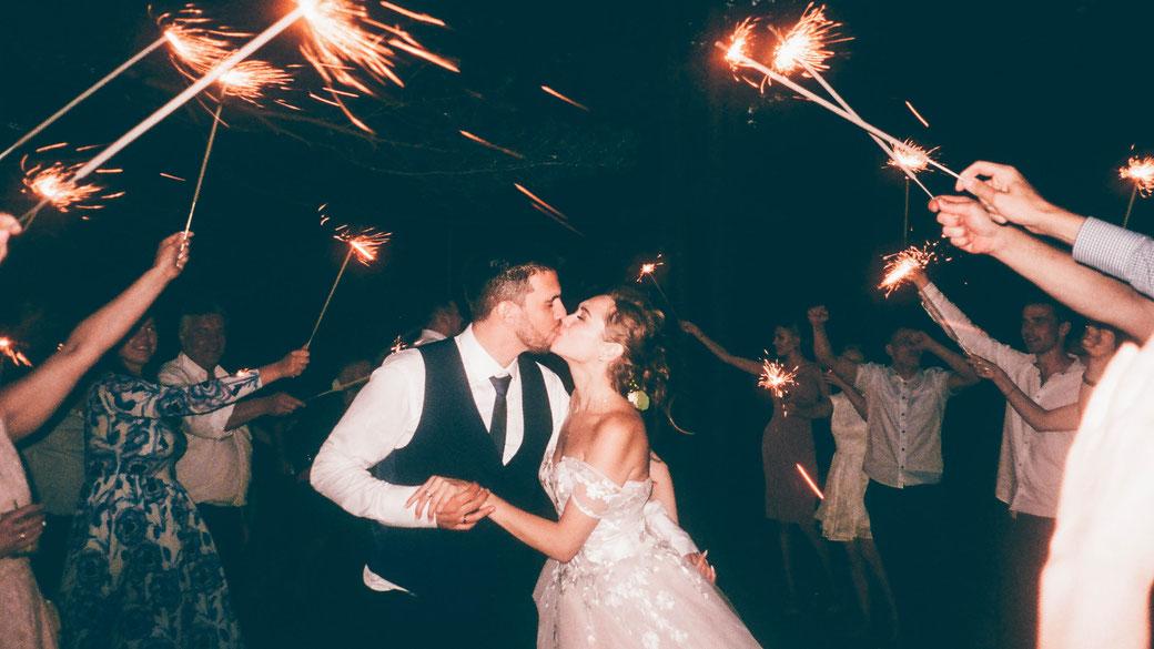 Kuss nach Hochzeitstanz