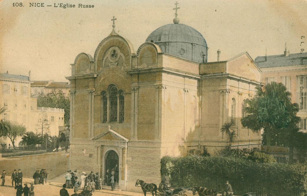 L'Eglise de la rue Longchamp, après la transformation de la coupole consécutive au tremblement de terre de 1887