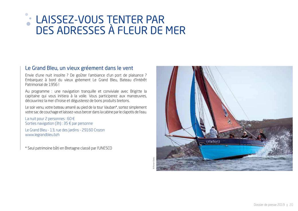 le grand bleu dans le dossier de presse de Brest Terre Océane