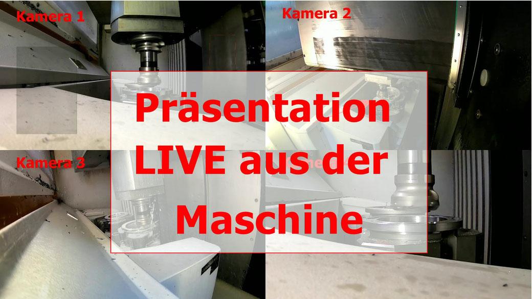 LIVE Präsentation aus der Maschine