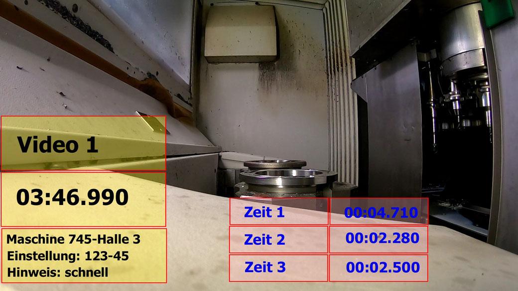 Analyse 2: Zeit, Text, Video schneiden, mehrere Zeiten
