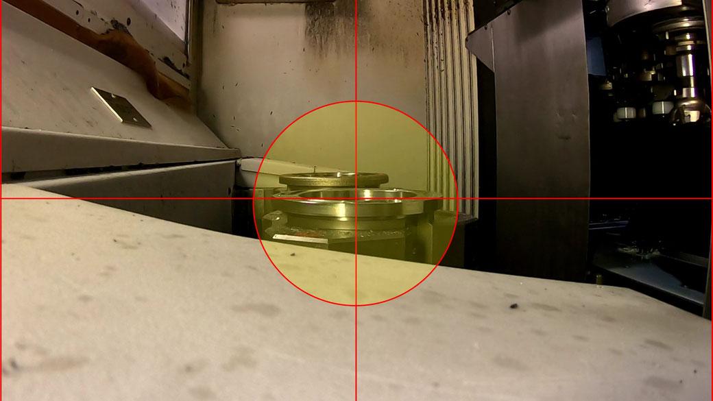 Aufnahme 1: zentriert, kalibriert, ohne Parallaxenfehler