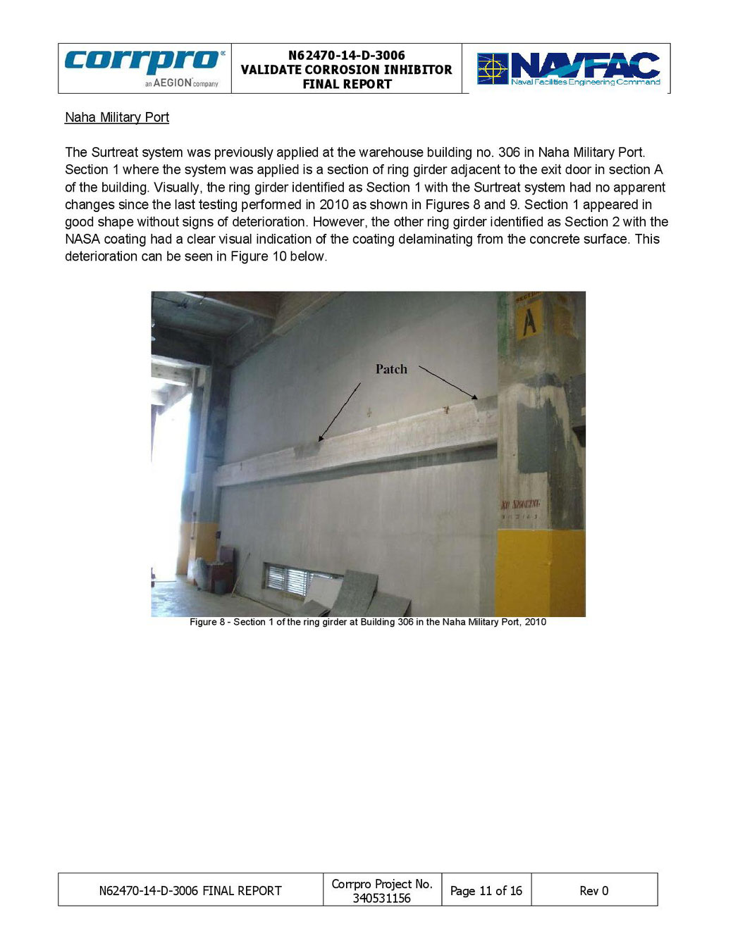 Galvanic NASA Coating used by Surtreat Holding, LLC to inhibit Corrosion on a Warehouse Beam.