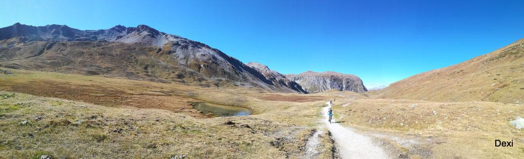 am höchsten Punkt 2309m... der Schlinigpass