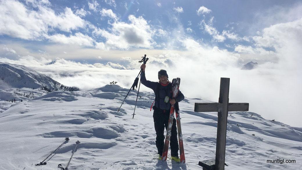 11:30 am Gipfel (03:10h Aufstieg)
