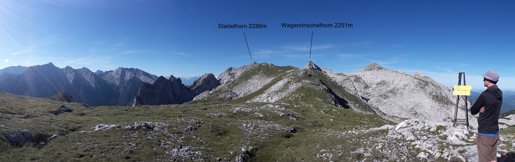 am Steinberg, Blick zum heutigen Ziel