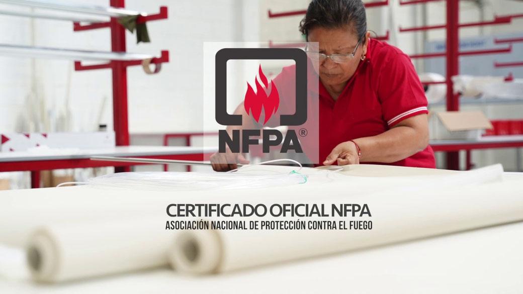 Persianas contra incendio para Empresas y Hotel Norma NFPA