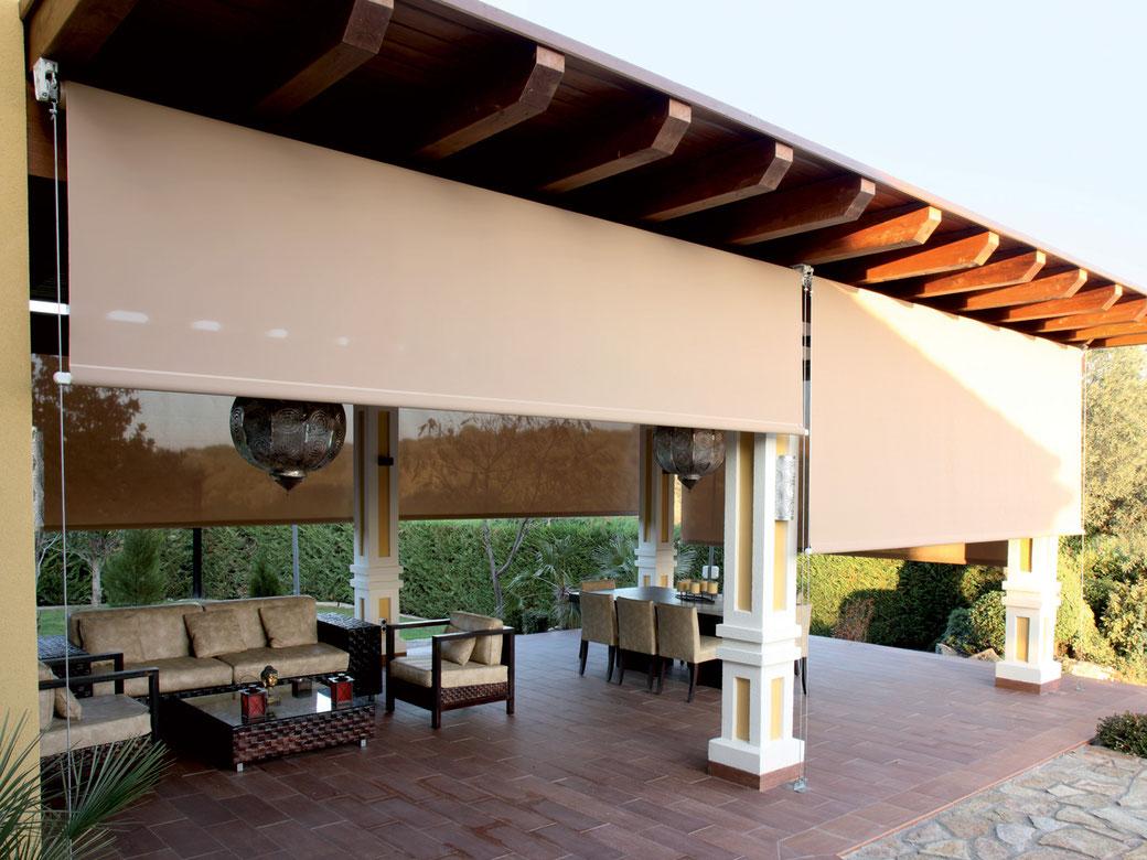 Persianas enrollables para exteriores, jardín, patio, roof garden