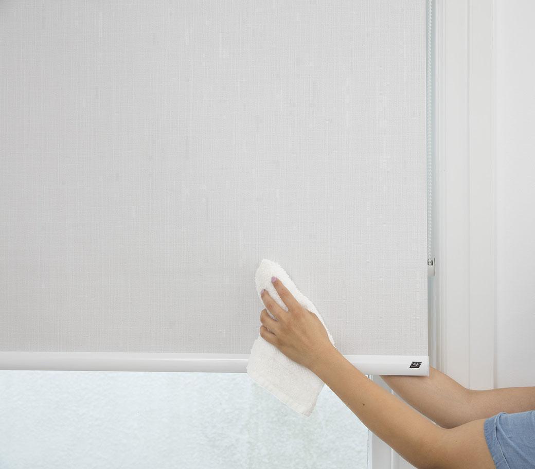 ¿Cuáles son los tejidos de persiana mas fáciles de limpiar?