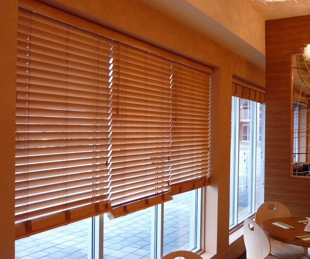 Proveedora de persianas horizontales de madera