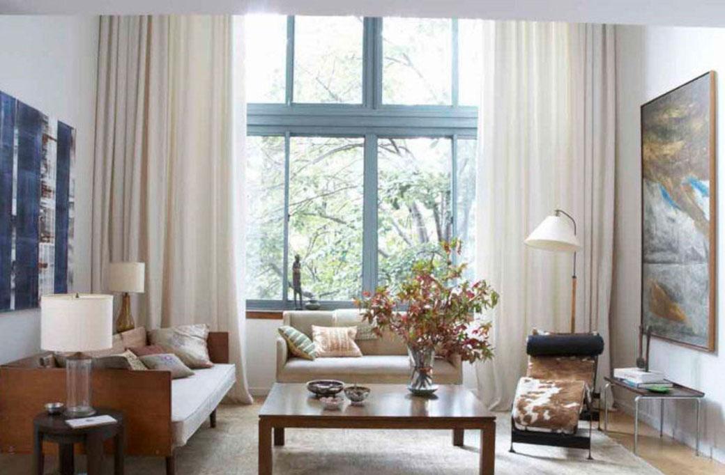 Elegir las cortinas según el tono de la pared