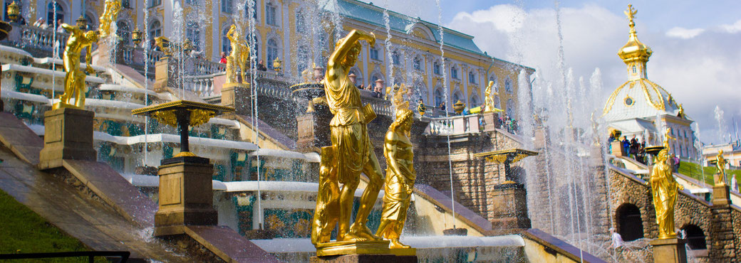 Tsar's Summer Palace, St. Petersburg, Russia.