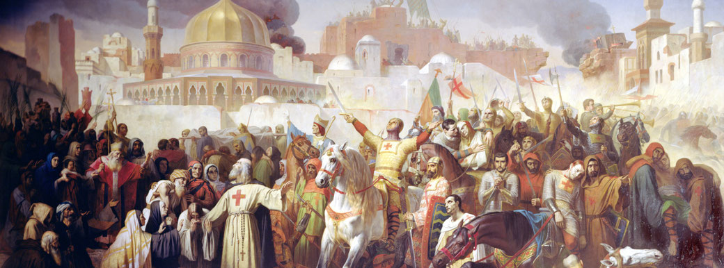 An illustration depicting the Crusades.