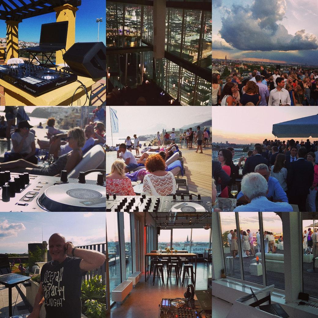 Rooftop - Sundowner - Party - Wedding - Club - Spa Hotel - DJ