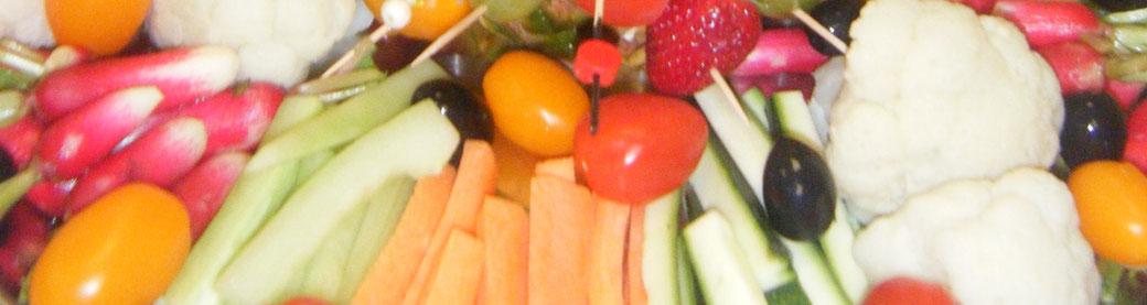 Traiteur le Cochon sans Rancune - Montrieux-en-Sologne - Crudités et salades composées pour vos menus de mariages, fêtes, cousinades, anniversaires et rencontres professionnelles