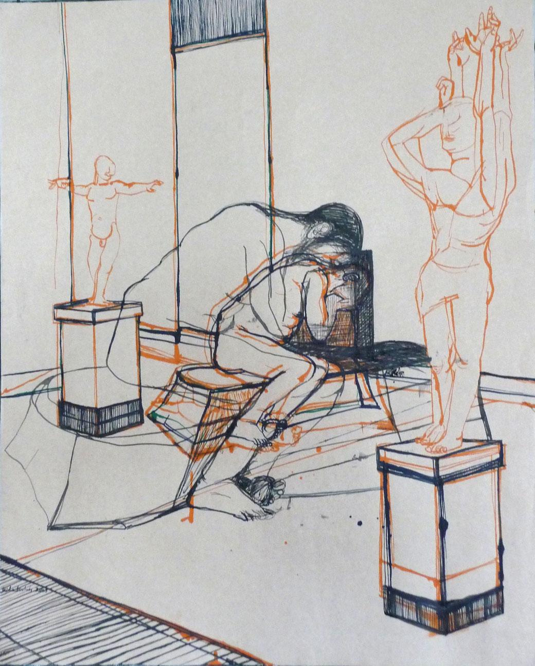 Aktzeichnung Alberto Galerie im Turm 2011