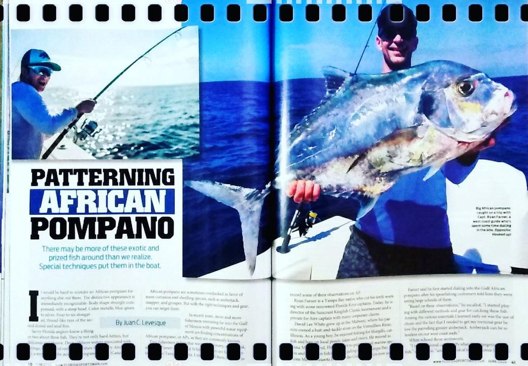 Juan C. Levesque, Fishery Biologist; Feature Magazine Artice: Patterning African Pompano (Florida Sportsman Magazine June 2020)