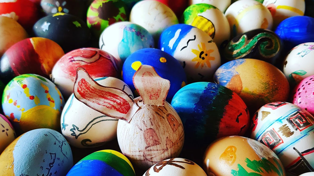Easter Eggs painted by our Adopt Students