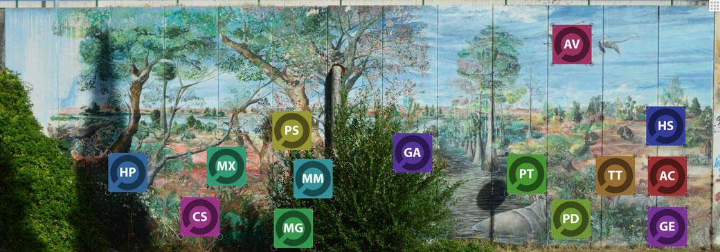 Mural en Realidad Aumentada para yacimiento paleontológico. Layar