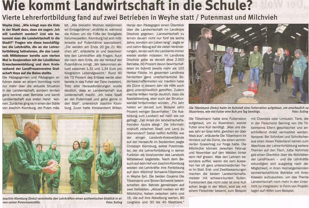 Mit freundlicher Genehmigung des Landvolkverbandes Mittelweser