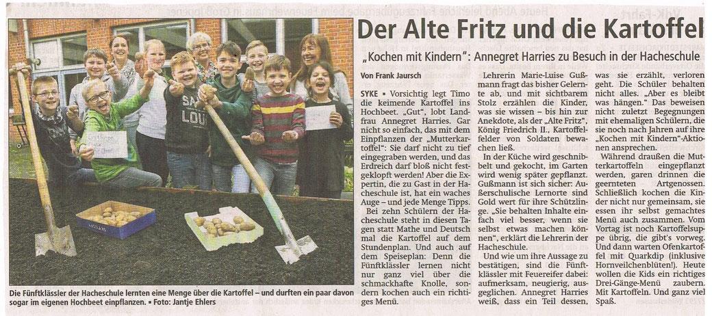 Mit freundlicher Genehmigung der Kreiszeitung vom 31.3.2017