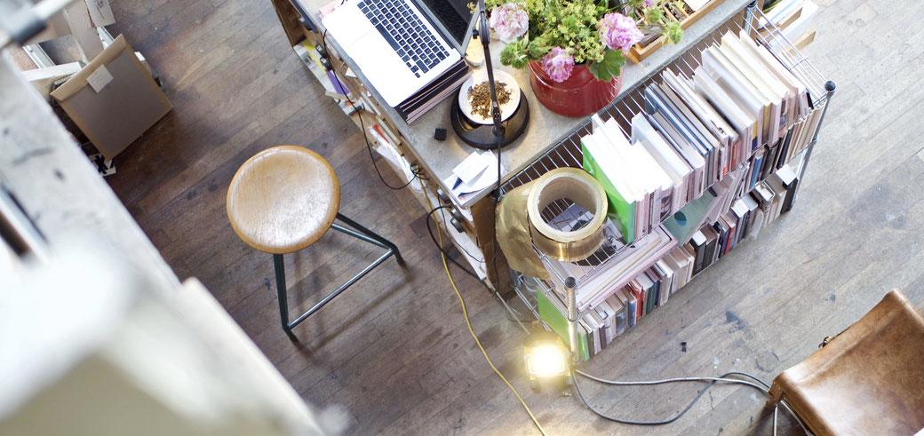 Home Office - umfunktionierter Schreibtisch