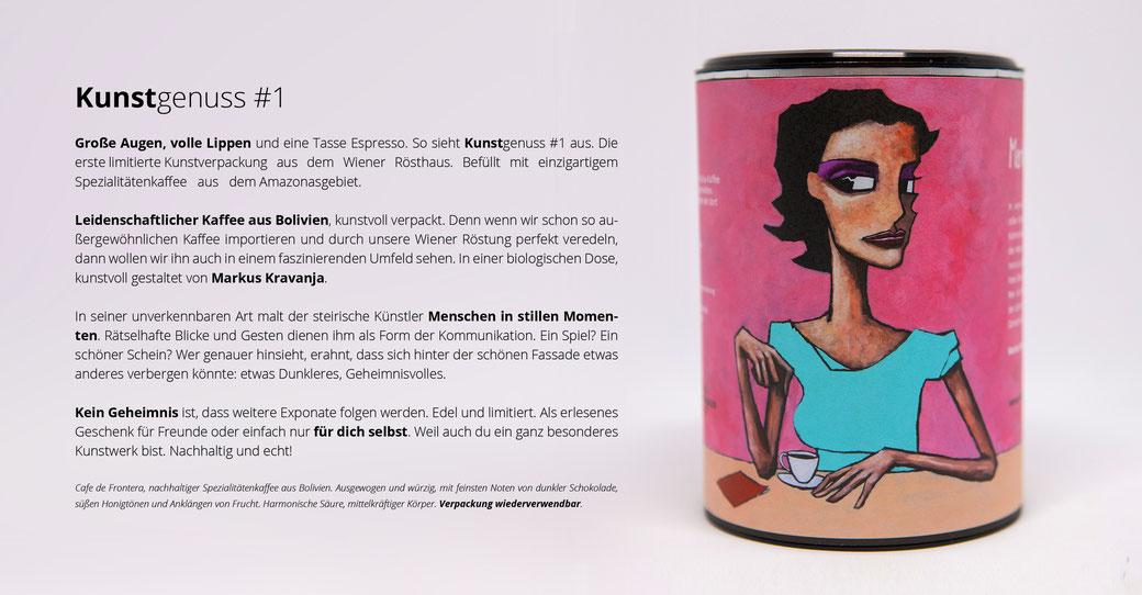 KunstGenuss edler Spezialitätenkaffee aus Bolivien in einer limitierten Sammerdose von Markus Kravanja
