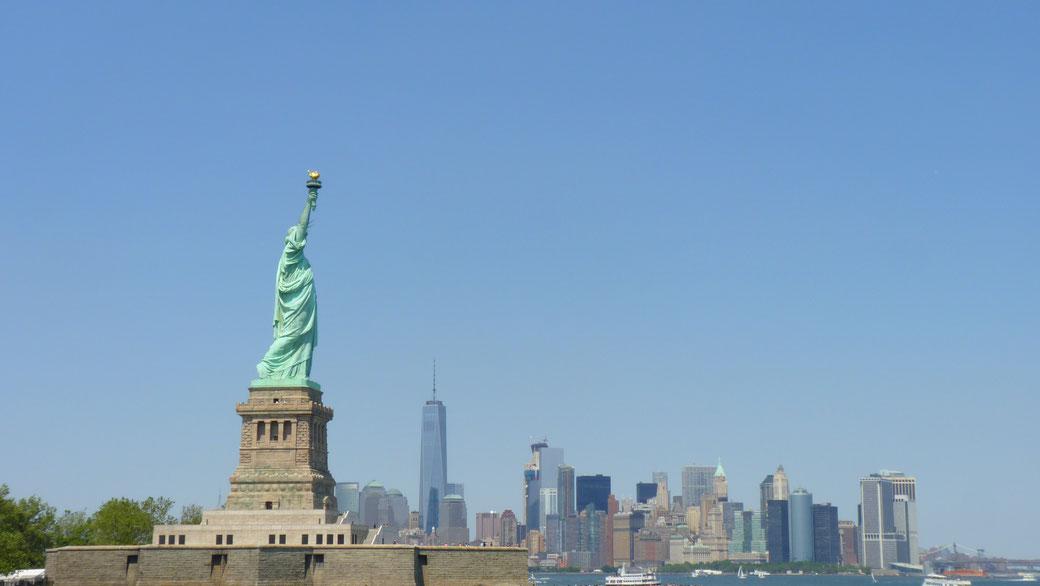 Statut de la Liberté et Sky line