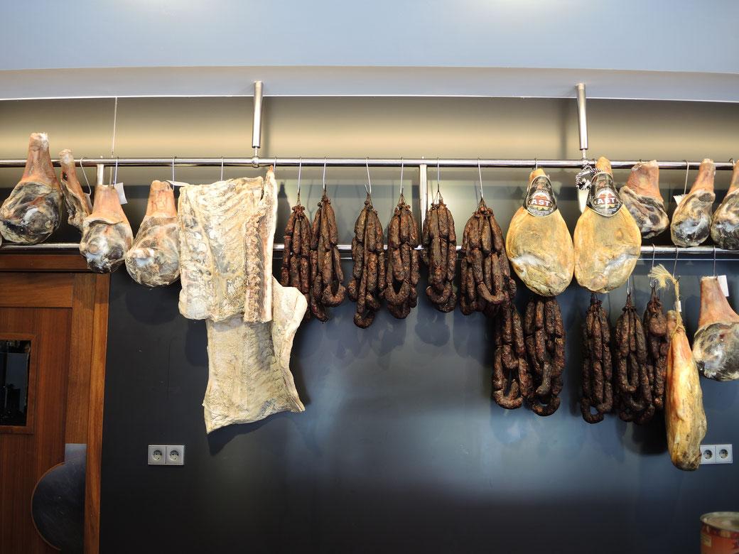 Eine Carniceria in Asturien mit dem Fleisch von höchste Qualität