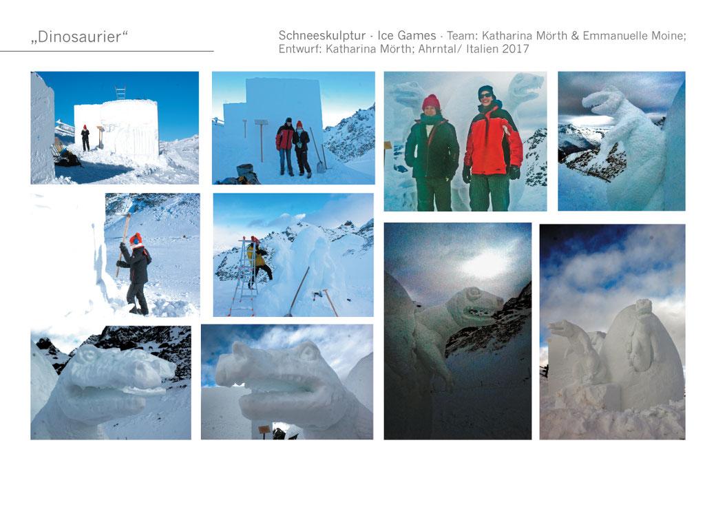 #Schnee #Winter #Skigebiet #Schneeskulptur #KatharinaMörth #Contemporaryart #Sculpture #Skulptur  #Design #Kunst #Gartendesign #Gardensculpture #Dinosaurier #Ahrntal #Südtirol