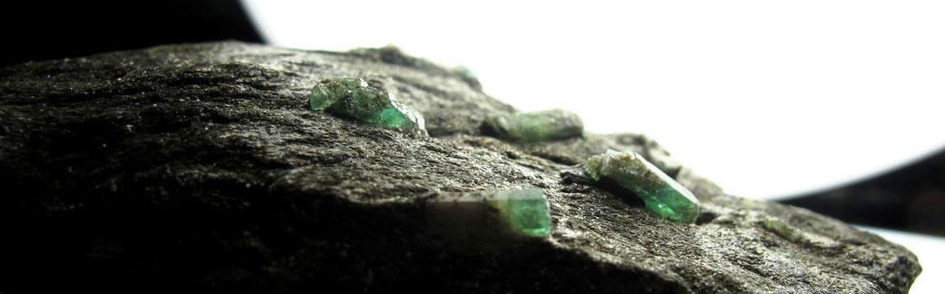 Schöne Smaragdkristalle aus Österreich