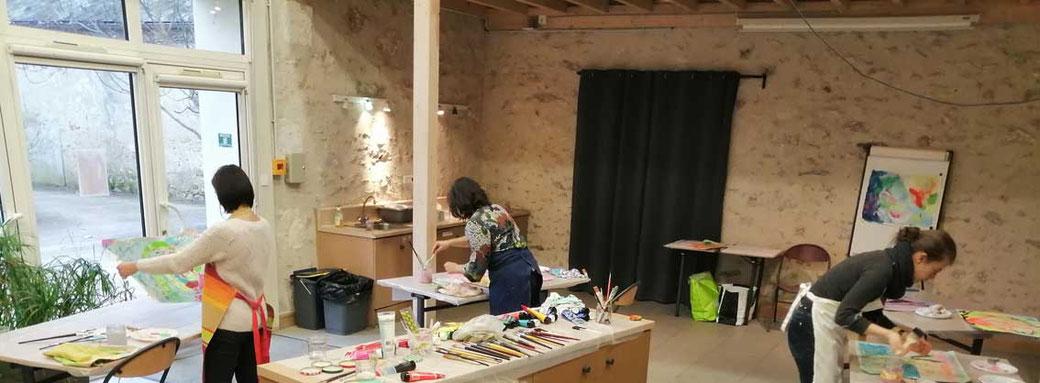 atelier peinture intuitive, avec severine saint maurice -  annuaire de therapeutes via energetica