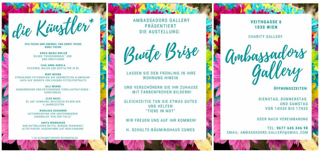 Anita Windhager, Bunte Briese 2021,  Ambassadors Gallery, 1030 Wien