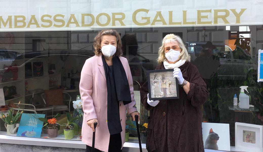 Anita Windhager, Ausstellung Bunte Briese 2021,  Ambassadors Gallery, 1030 Wien