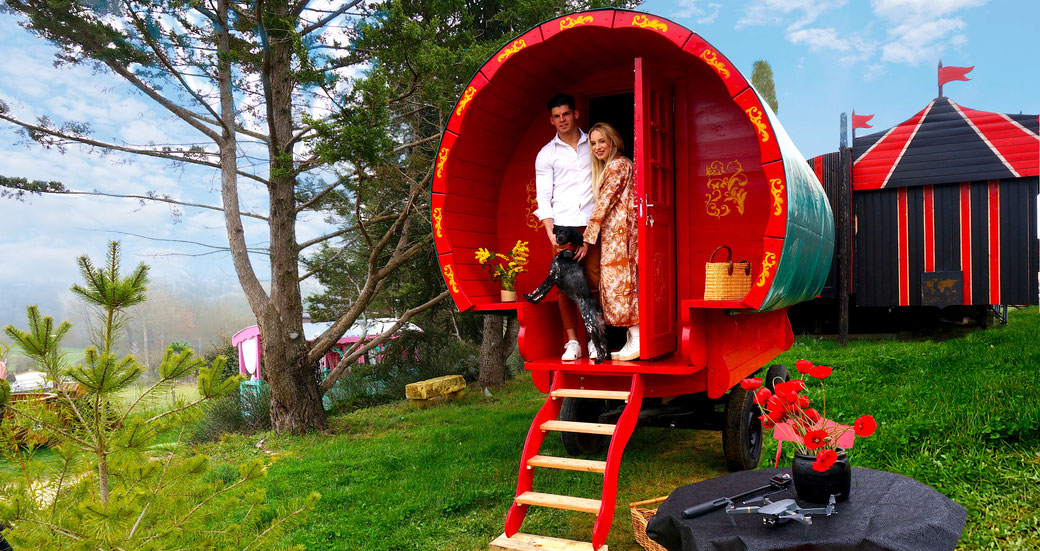 Roulotte irlandaise  gypsy caravan gypsy roulotte