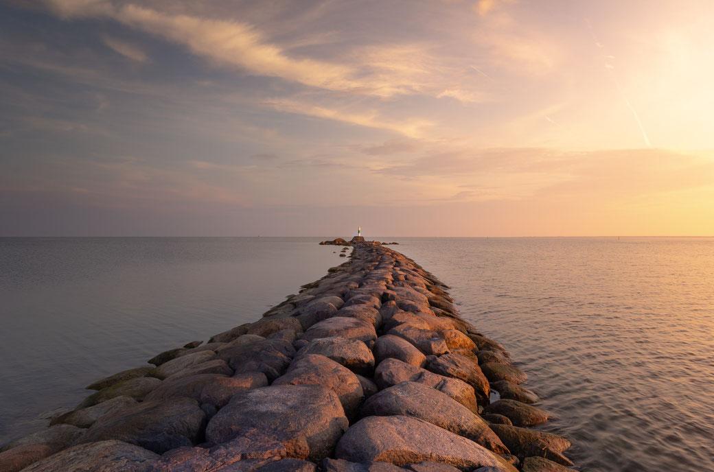 Steine, Sonnenuntergang, Meer, Ozean